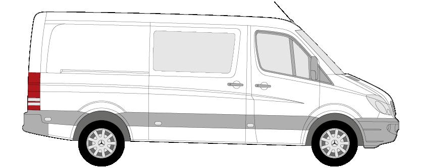 Zeichnung eines Bullis für die vorlage einer Beschriftung